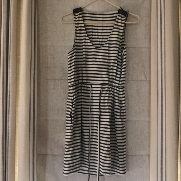 J. Crew Dresses & Skirts - J. Crew Dress / Beach Coverup black/white stripes